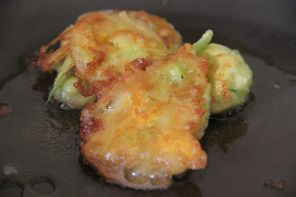 Zucchini Blossom Fritters with Anchoiade