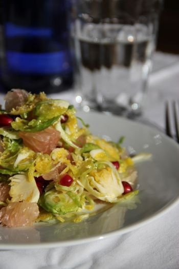 Lemony brussels sprout salad