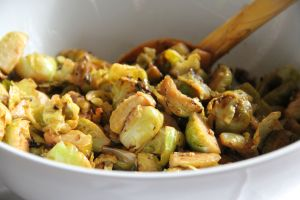 Sprouts, pan fried with lemon