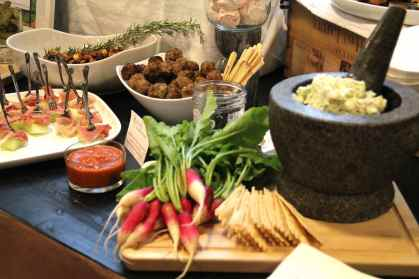 Table scape of Appetizer Buffet