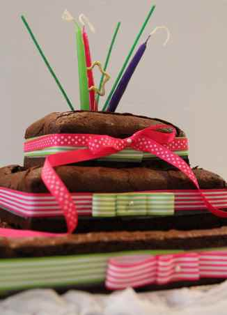 Our Famous Brownie... As a Three Tiered Wedding cake!