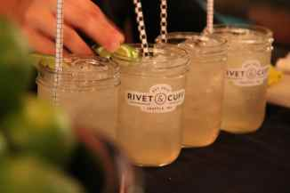 Branded signature cocktails at corporate launch