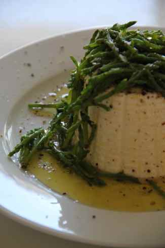 Hand Dipped Ricotta and Samphire
