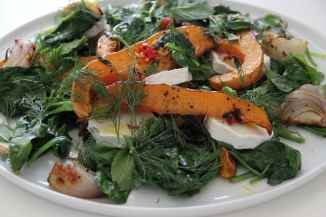 Roasted Butternut Squash, Pea Vines, Dill, Chilli & Chevre