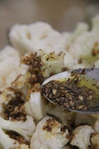 Garlic and Cumin Roasted Cauliflower