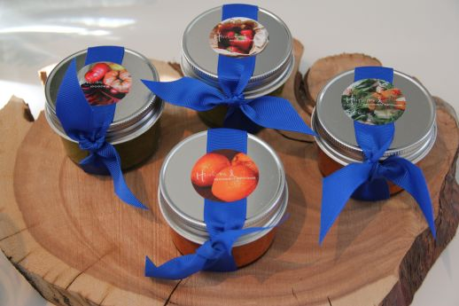 Guest Favours; home made Harissa and Gremolata