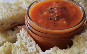 Roasted Tomato soup and bread