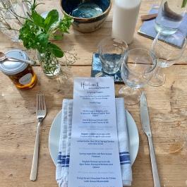 Spring Menu at the Kitchen Table