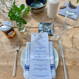 Spring Menu at the Kitchen Table